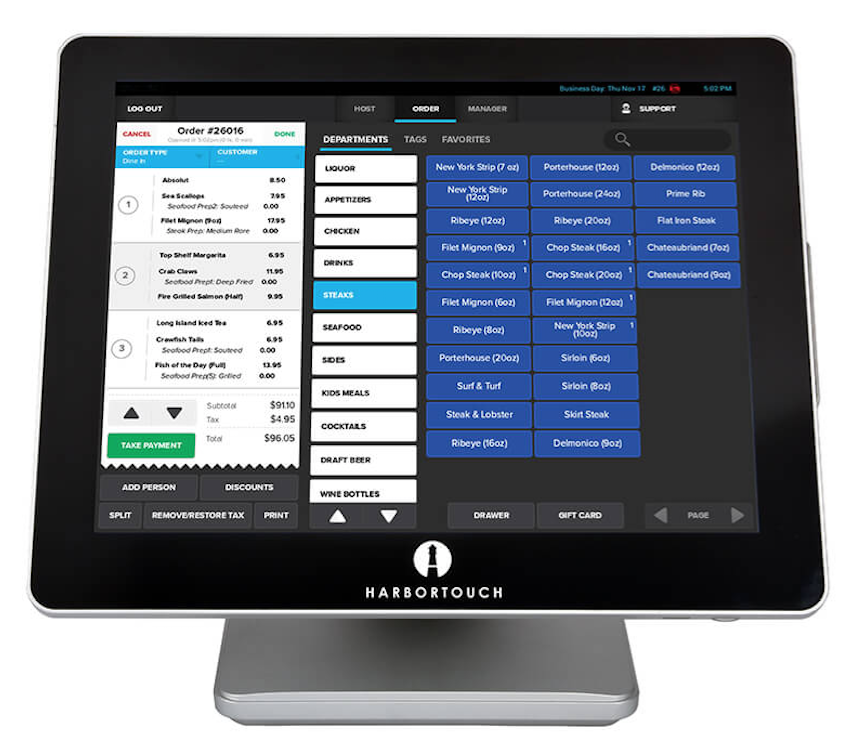 Harbortouch Bar and Restaurant | Harbortouch Elite POS System